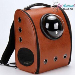 กระเป๋าแคปซูลแมวอวกาศ วัสดุผ้า